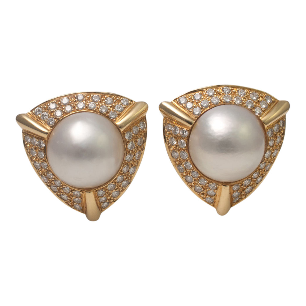 Pearl and Diamond Earrings from Plaza Jewellery - image 1