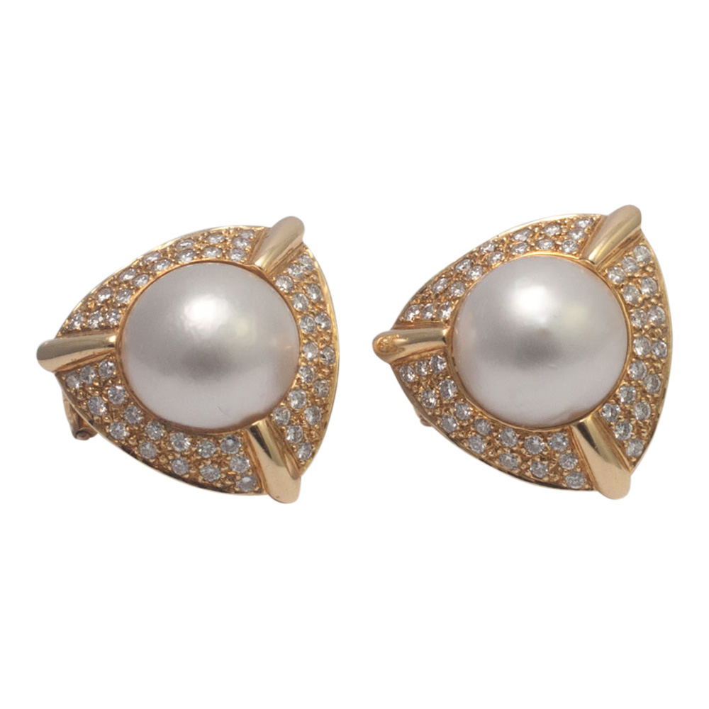 Pearl and Diamond Earrings from Plaza Jewellery - image 2