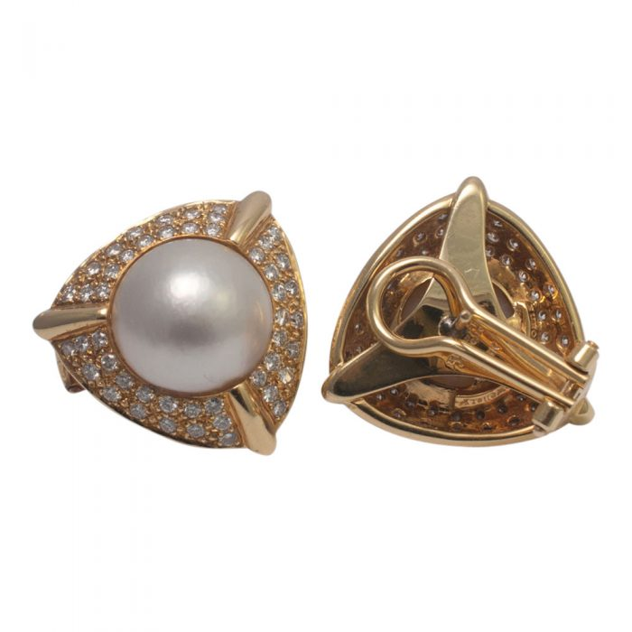 Pearl and Diamond Earrings from Plaza Jewellery - image 3