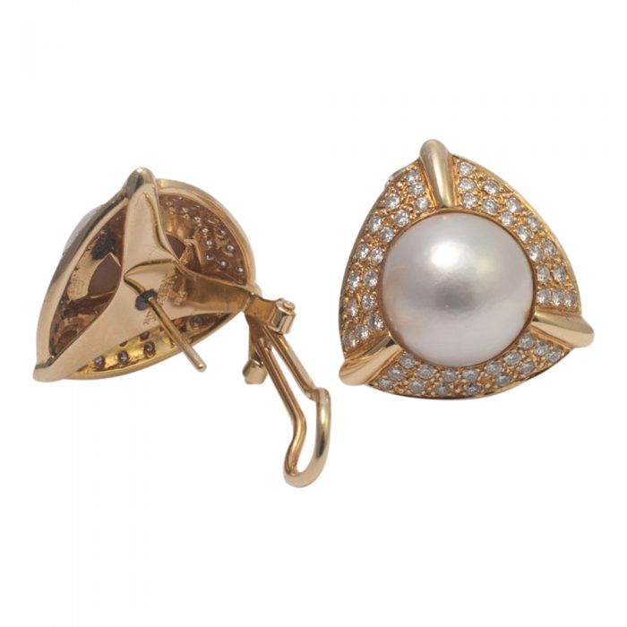 Pearl and Diamond Earrings from Plaza Jewellery - image 4