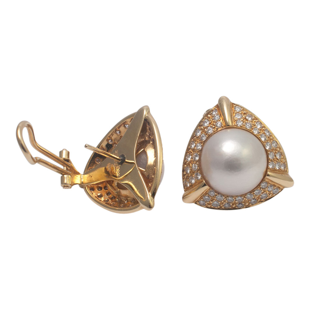 Pearl and Diamond Earrings from Plaza Jewellery - image 5