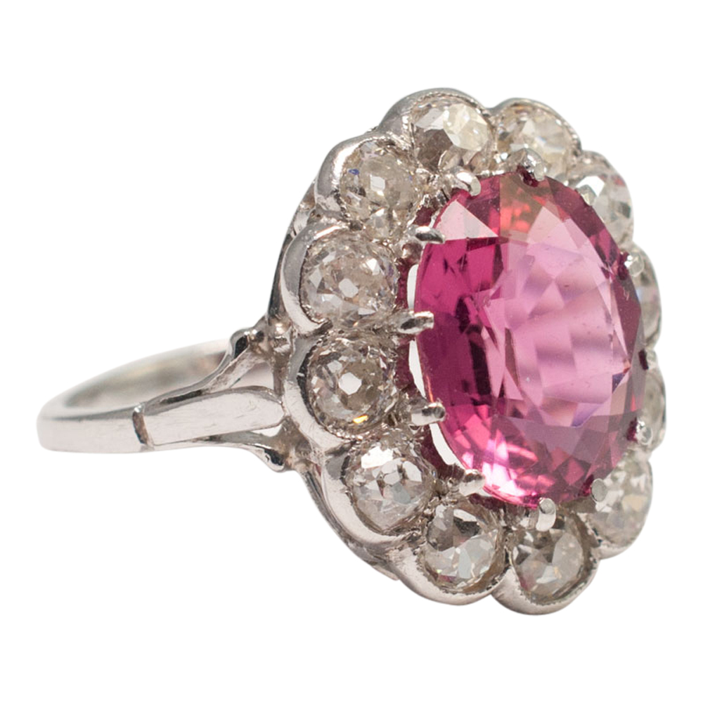 Pink Tourmaline Cluster Ring From Plaza Jewellery