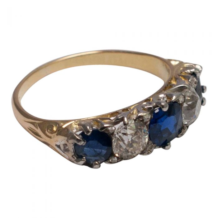 Victorian Sapphire and Diamond Ring from Plaza Jewellery - image 1