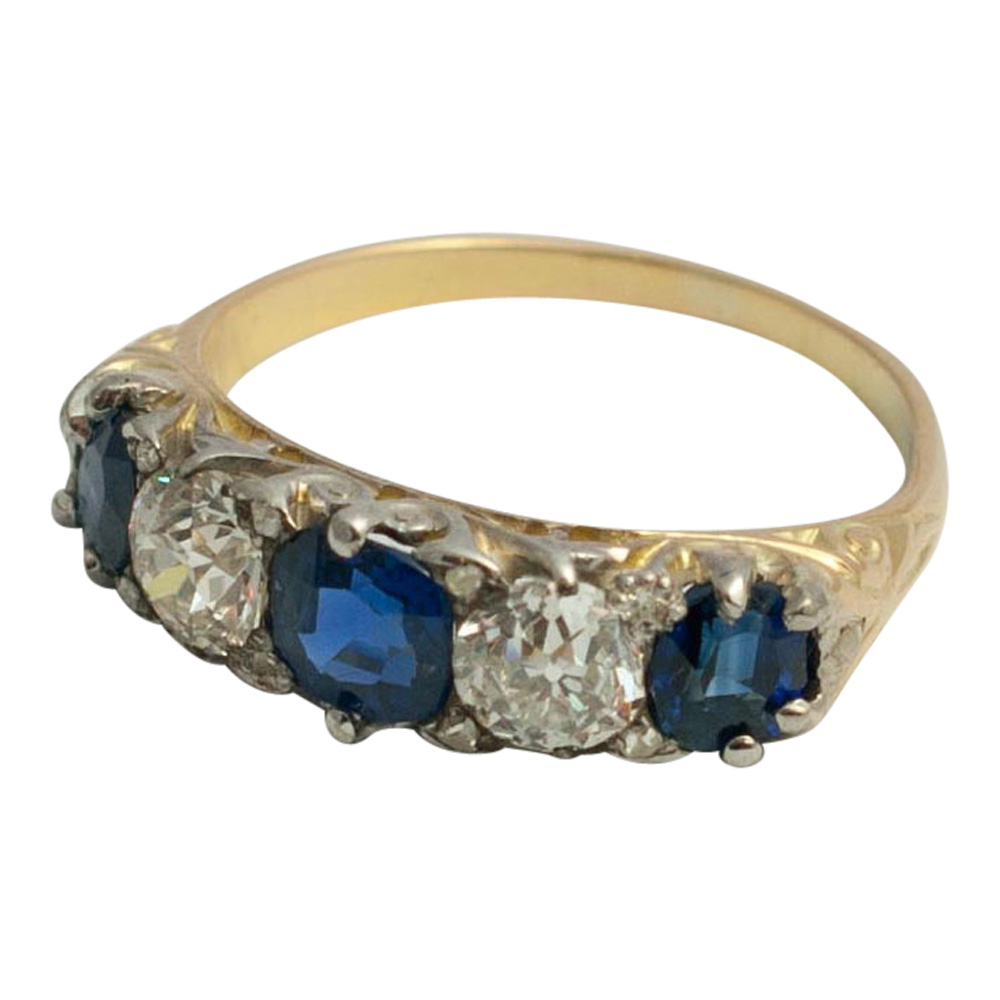 Victorian Sapphire and Diamond Ring from Plaza Jewellery - image 2