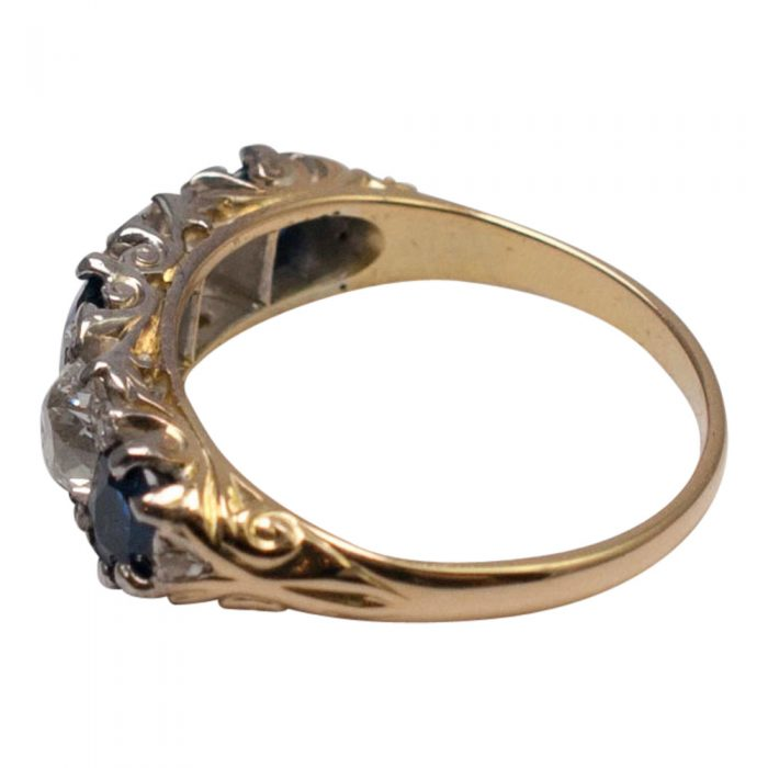Victorian Sapphire and Diamond Ring from Plaza Jewellery - image 3