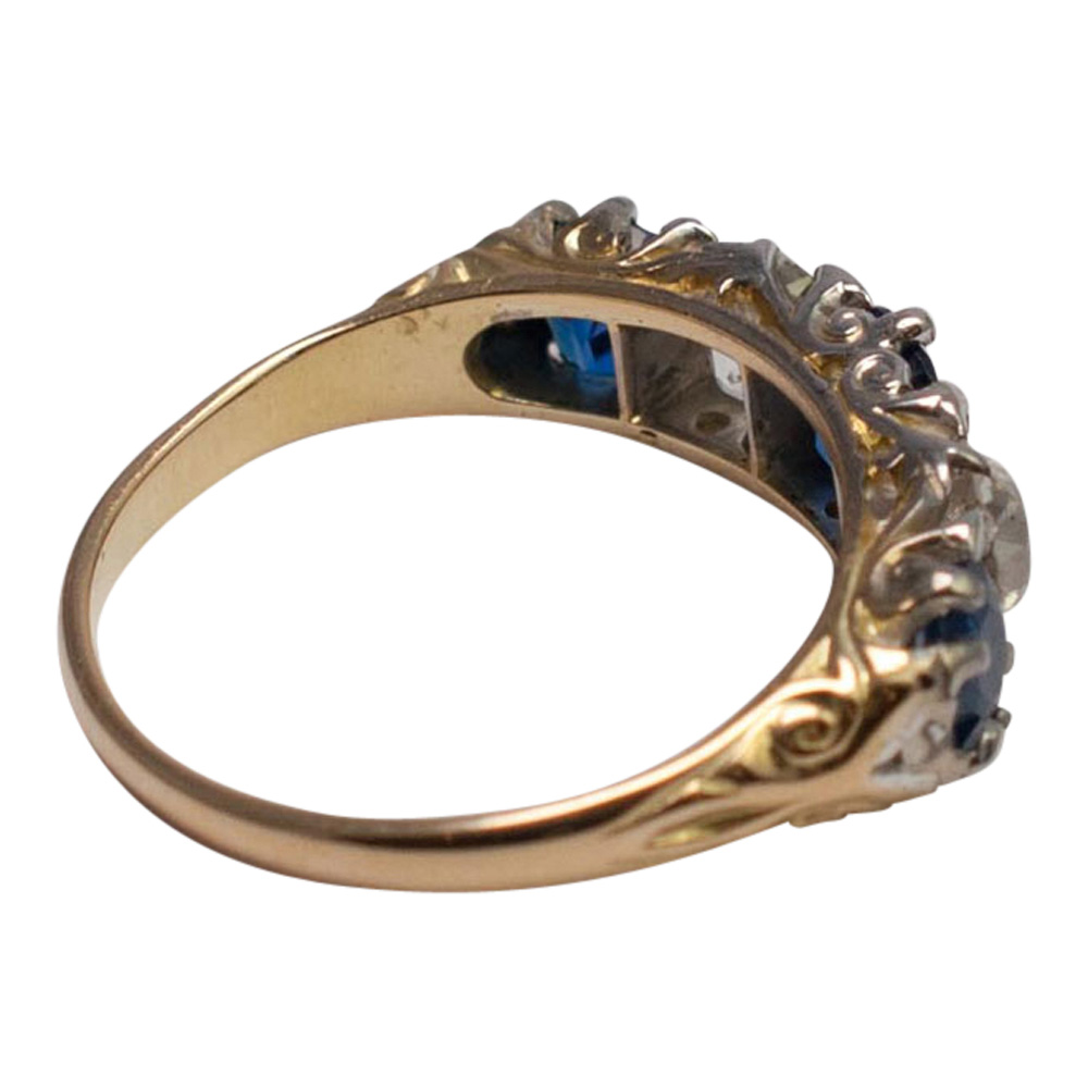 Victorian Sapphire and Diamond Ring from Plaza Jewellery - image 4