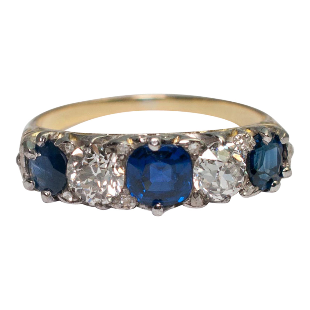 Victorian Sapphire and Diamond Ring from Plaza Jewellery - image 6