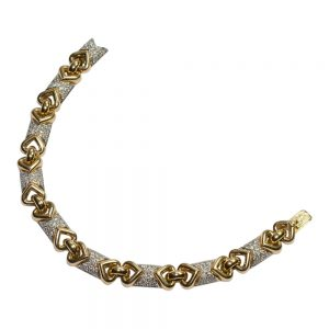 18ct Gold and Diamond Bracelet