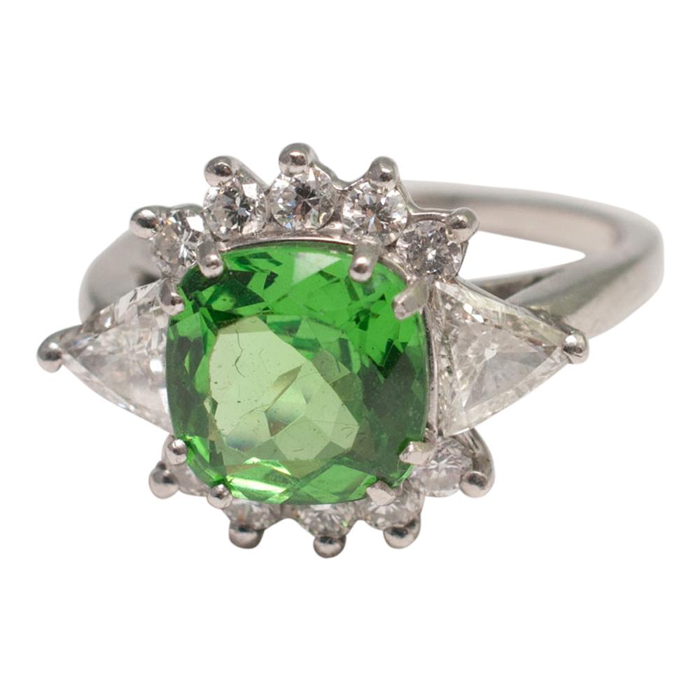 Tsavorite Garnet Ring From Plaza Jewellery