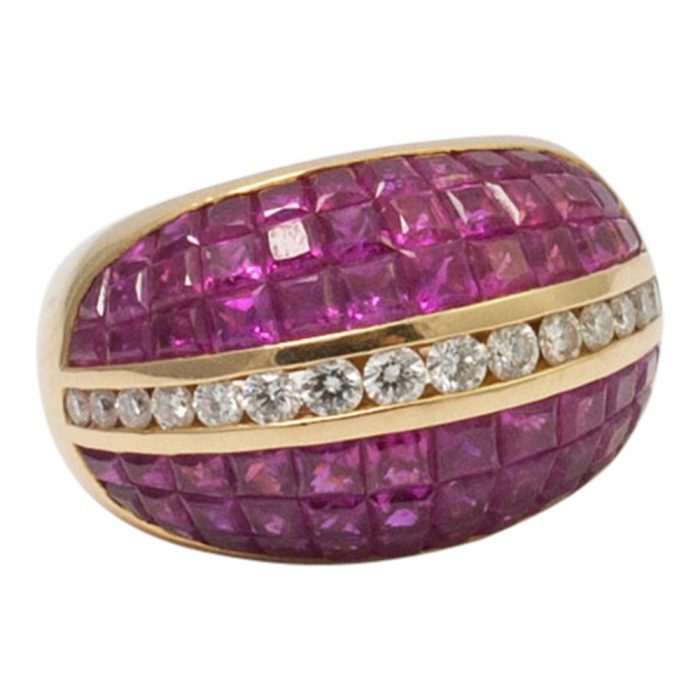 Ruby and Diamond BombŽ Ring from Plaza Jewellery - image 1