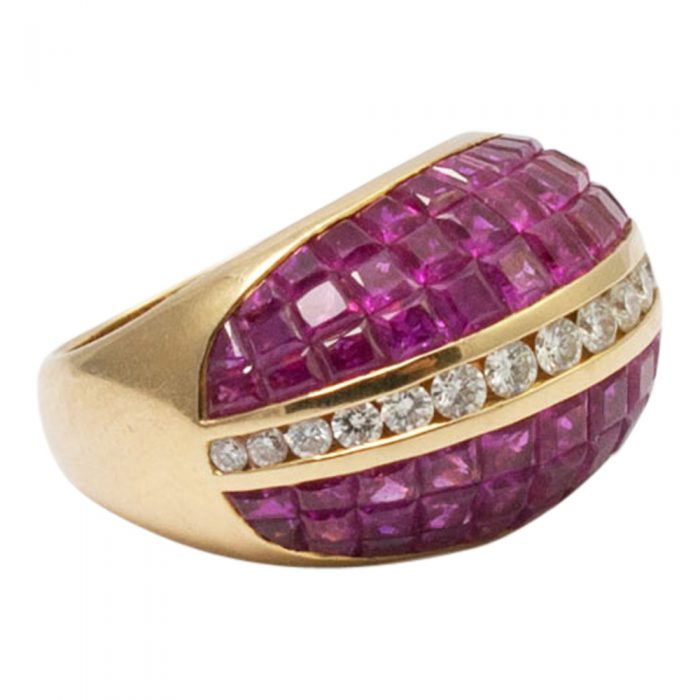 Ruby and Diamond BombŽ Ring from Plaza Jewellery - image 2