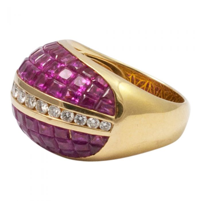 Ruby and Diamond BombŽ Ring from Plaza Jewellery - image 3
