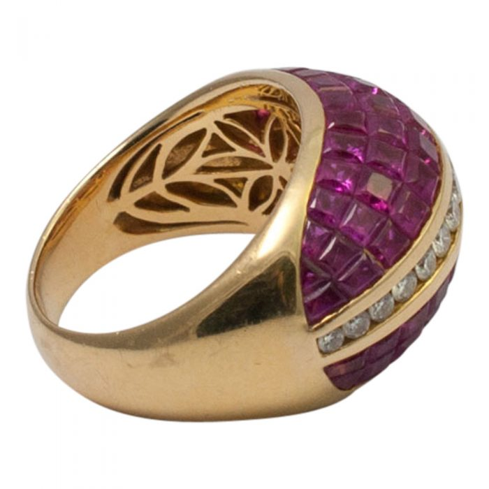Ruby and Diamond BombŽ Ring from Plaza Jewellery - image 6
