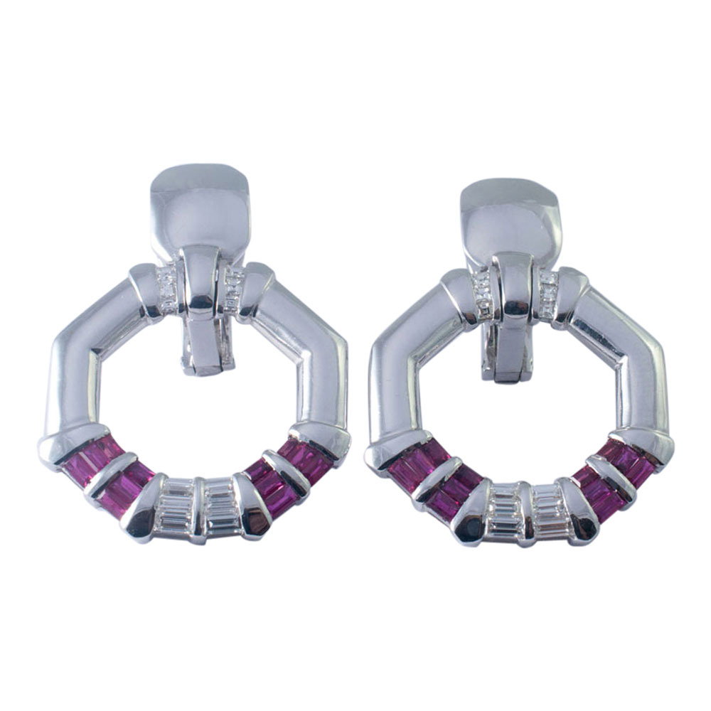 Avakian Ruby and Diamond Earrings from Plaza Jewellery - image 1