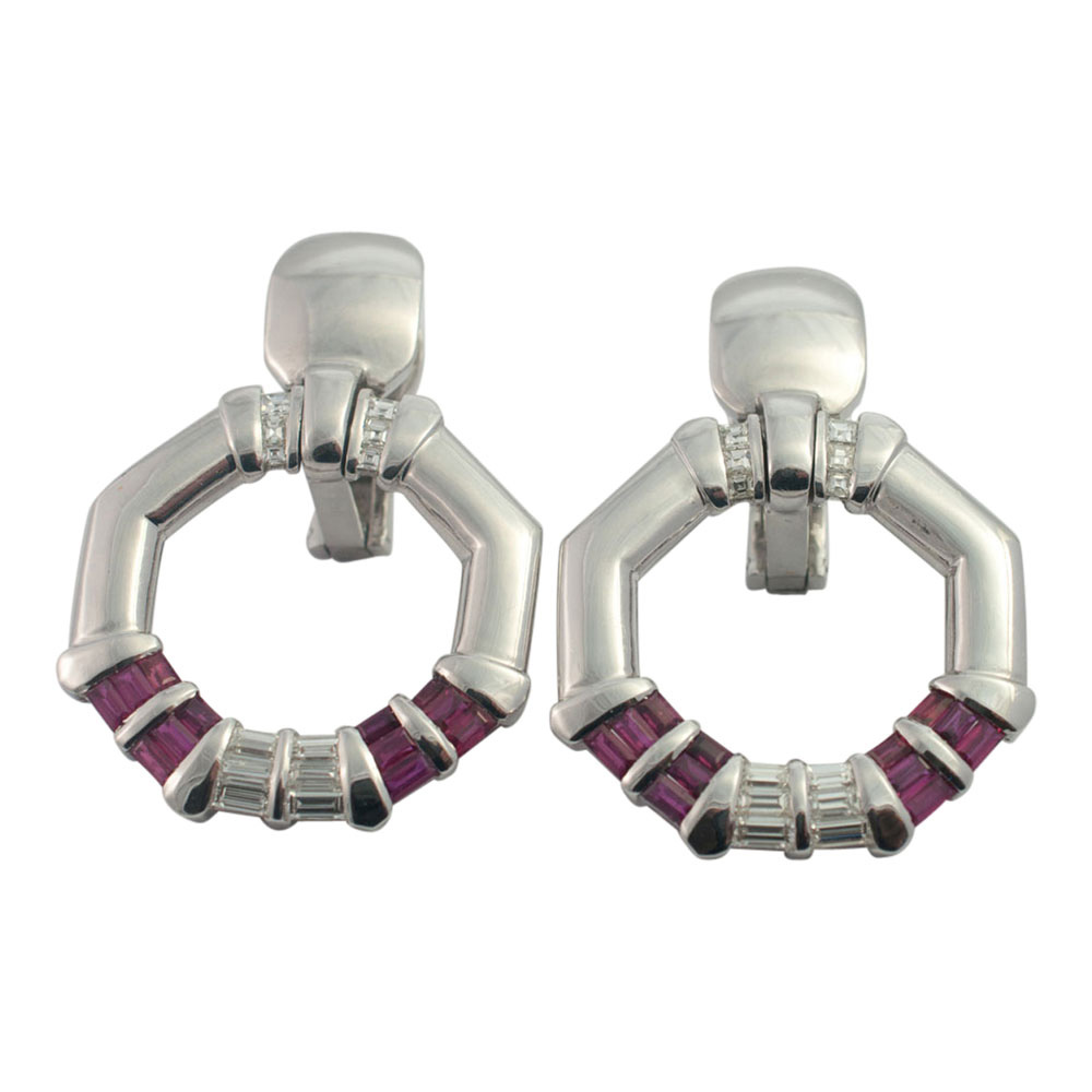 Avakian Ruby and Diamond Earrings from Plaza Jewellery - image 8