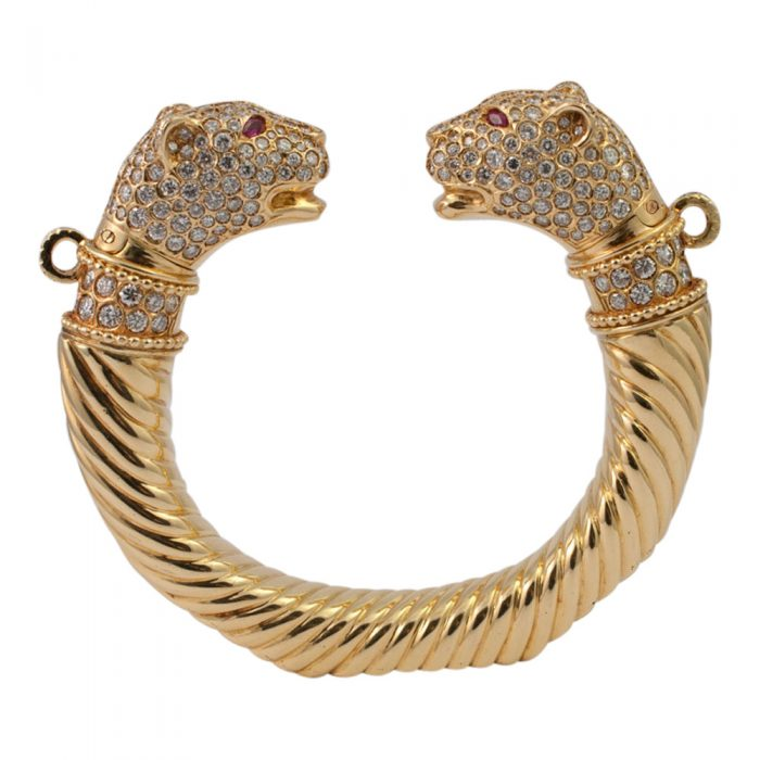 Double Panther Head Torc from Plaza Jewellery - image 1