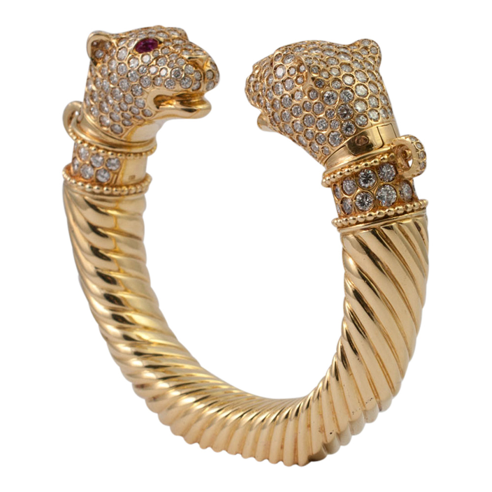 Double Panther Head Torc from Plaza Jewellery - image 2