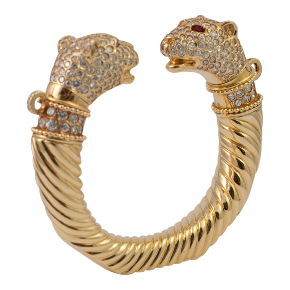 Double Panther Head Torc from Plaza Jewellery - image 3