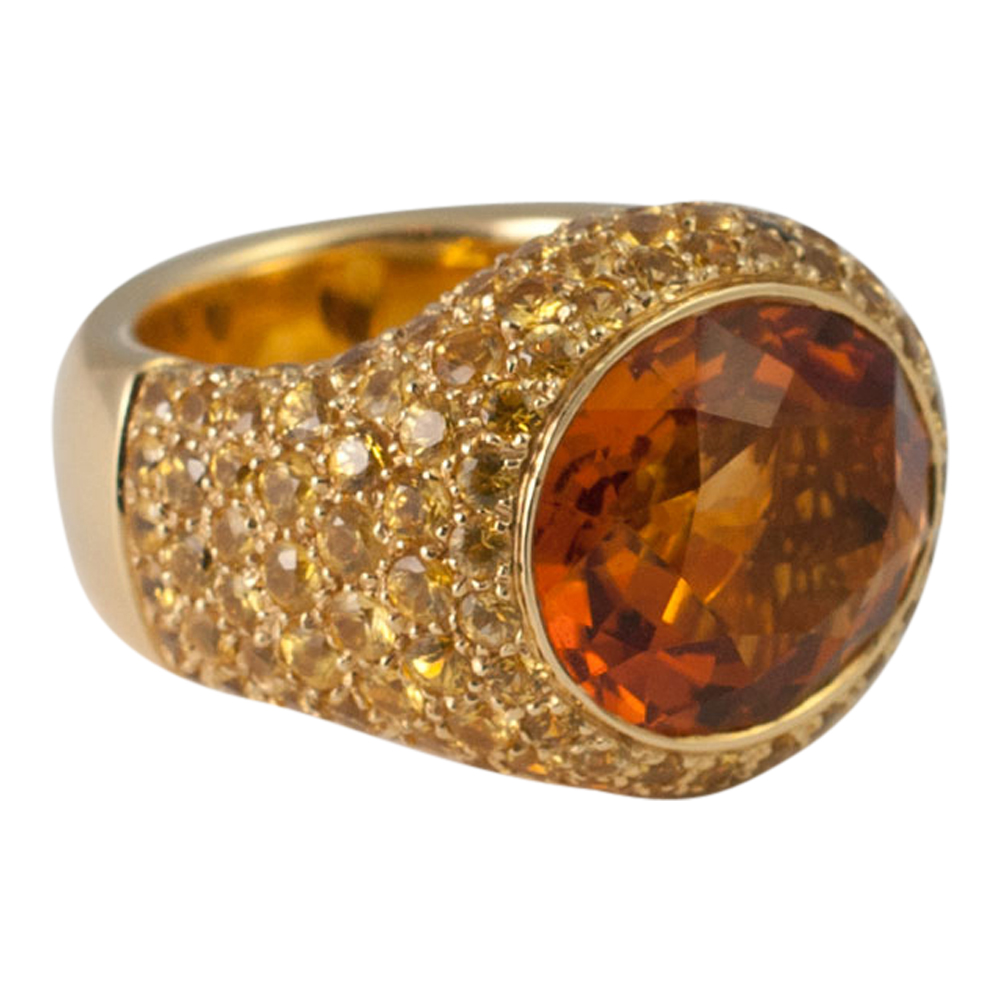 citrine and yellow diamond ring from plaza jewellery