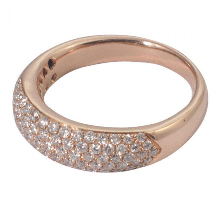 Diamond 5 Row Pavé Band Ring