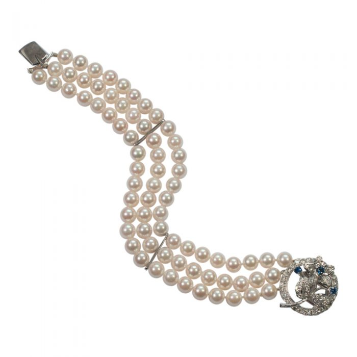 Pearl and Diamond Bracelet from Plaza Jewellery - image 3