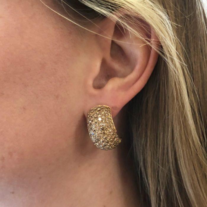 Fancy Yellow Golden Diamond Earrings
