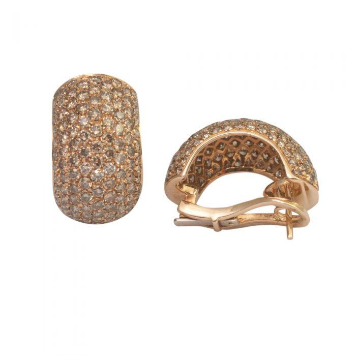 Golden Diamond Earrings from Plaza Jewellery - image 2