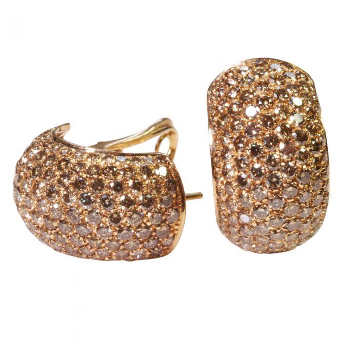 Golden Diamond Earrings from Plaza Jewellery - image 4
