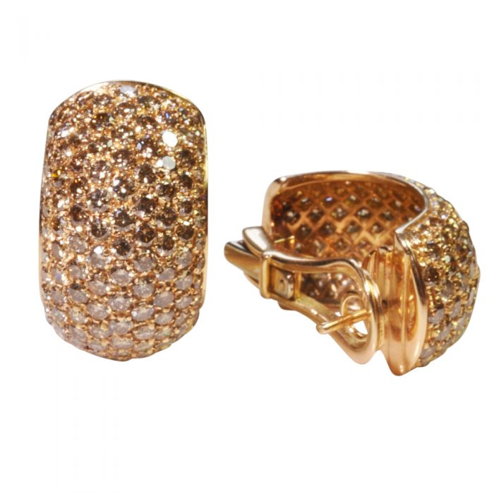 Golden Diamond Earrings from Plaza Jewellery - image 5