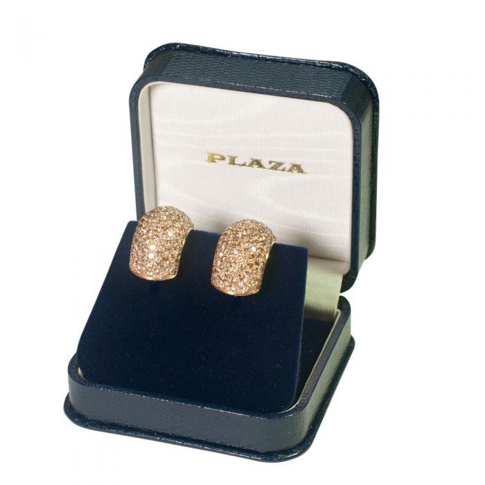 Golden Diamond Earrings from Plaza Jewellery - image 6