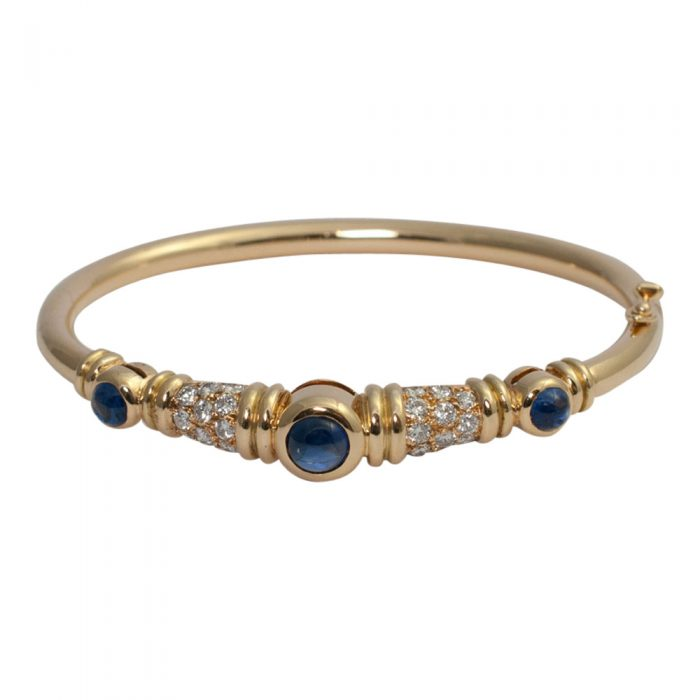 Chaumet Diamond Sapphire Bangle from Plaza Jewellery - image 1