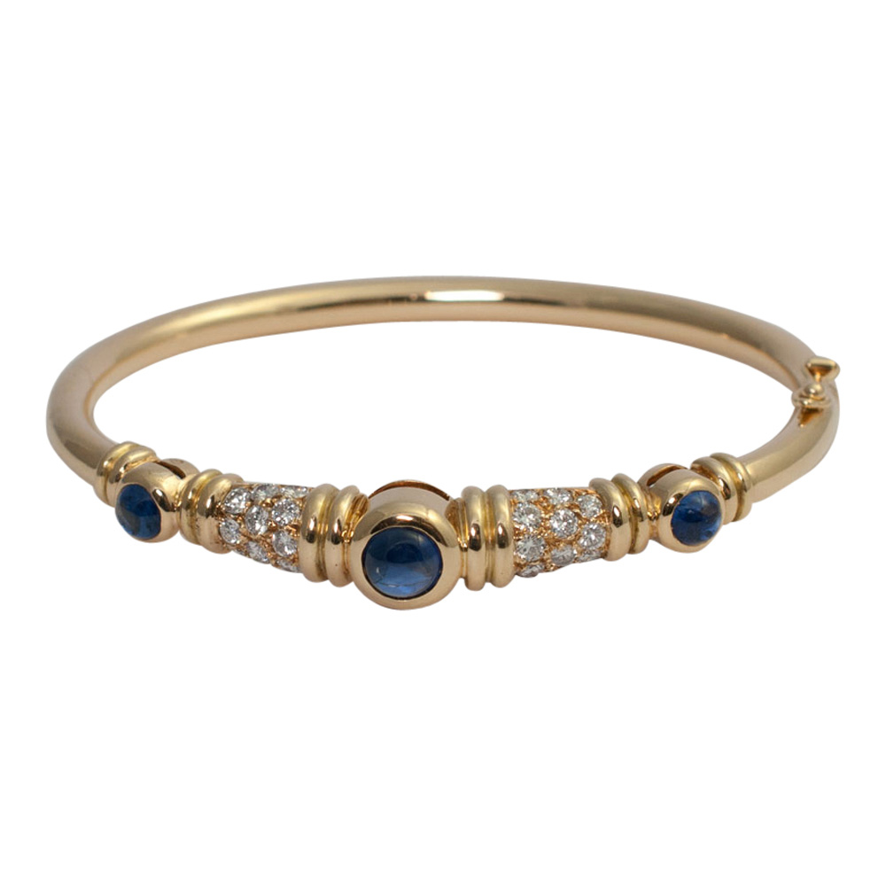 Chaumet Diamond Sapphire Bangle from Plaza Jewellery - image 1
