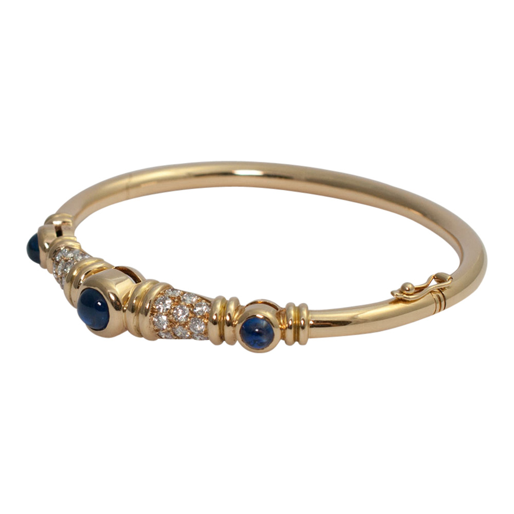 Chaumet Diamond Sapphire Bangle from Plaza Jewellery - image 2