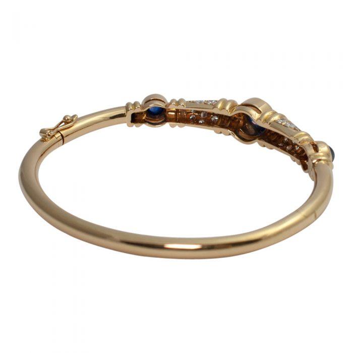 Chaumet Diamond Sapphire Bangle from Plaza Jewellery - image 5