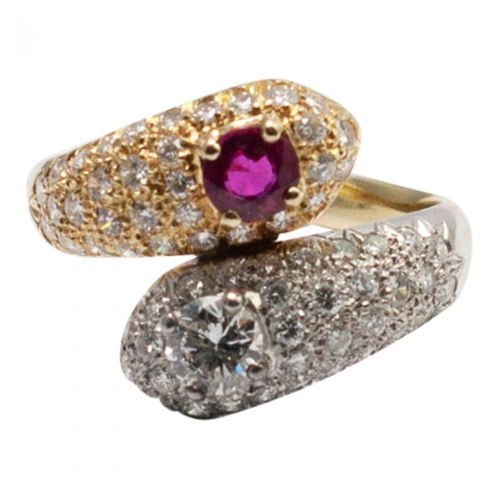 Ruby and Diamond Double Snake Ring from Plaza Jewellery - image 1