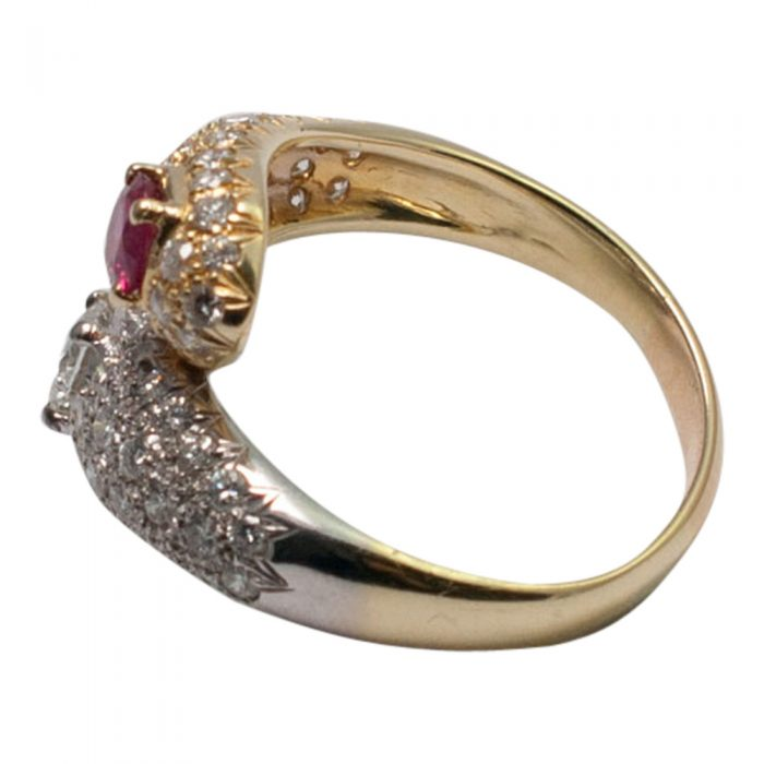 Ruby and Diamond Double Snake Ring from Plaza Jewellery - image 3