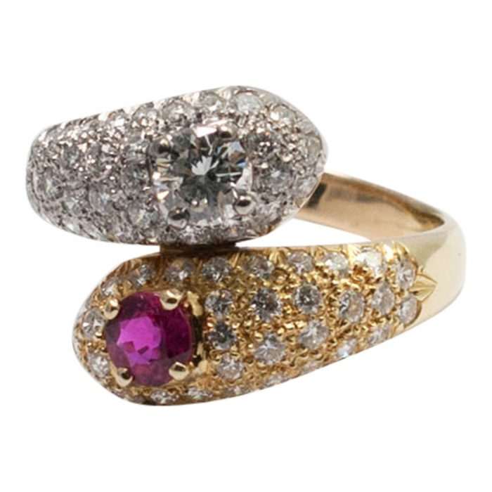 Ruby and Diamond Double Snake Ring from Plaza Jewellery - image 4