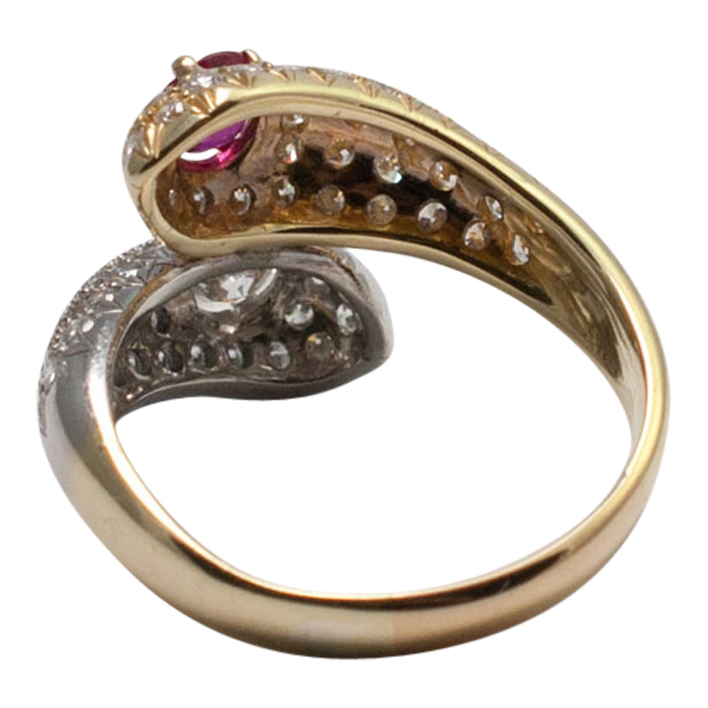 Ruby and Diamond Double Snake Ring from Plaza Jewellery - image 5