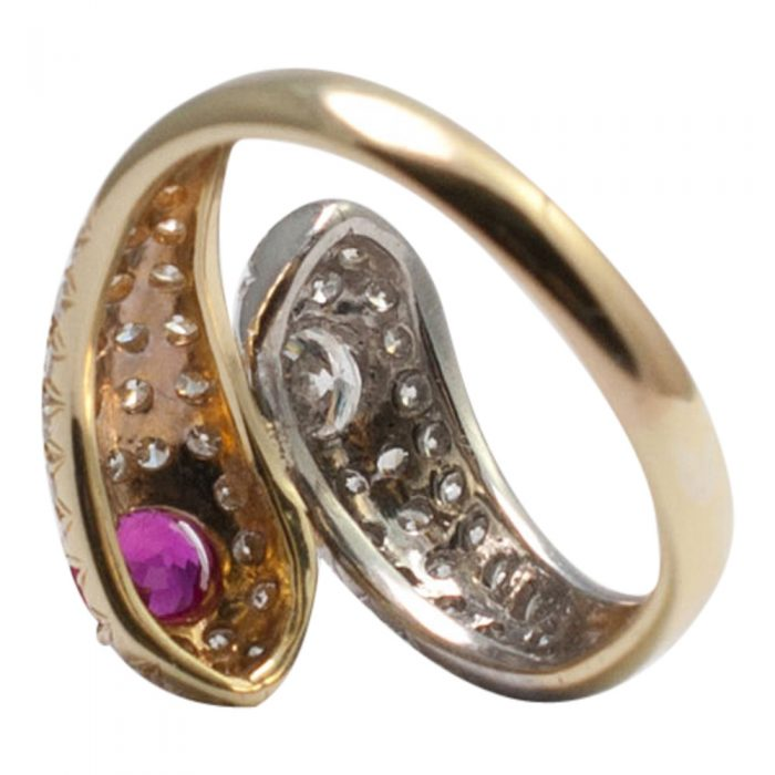 Ruby and Diamond Double Snake Ring from Plaza Jewellery - image 6