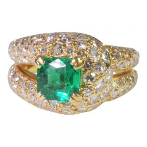 Emerald and Diamond Ring by Boucheron from Plaza Jewellery - image 1