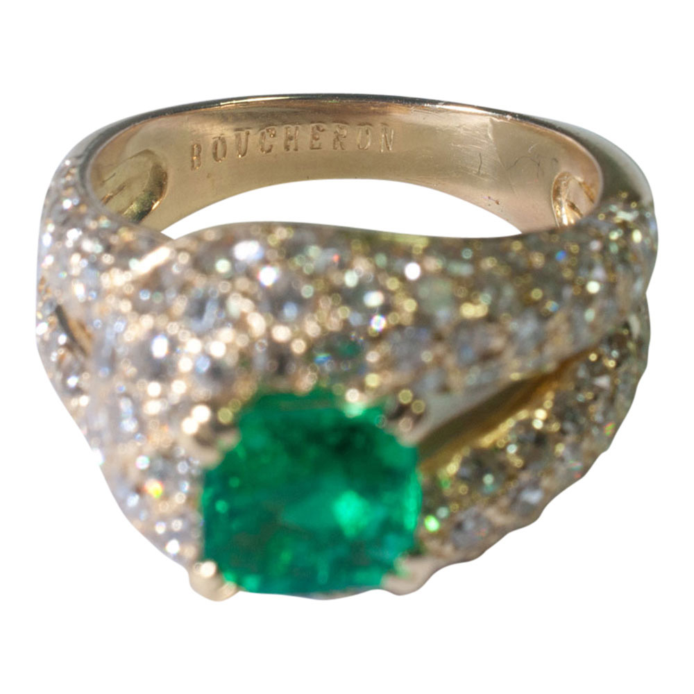 Emerald And Diamond Ring By Boucheron From Plaza Jewellery