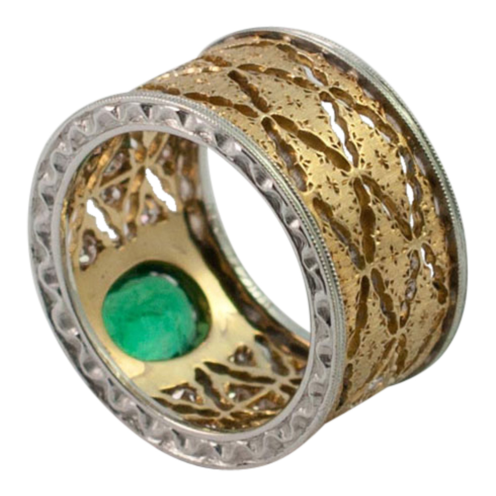 Emerald and Diamond Band Ring by Buccellati from Plaza Jewellery - image 4