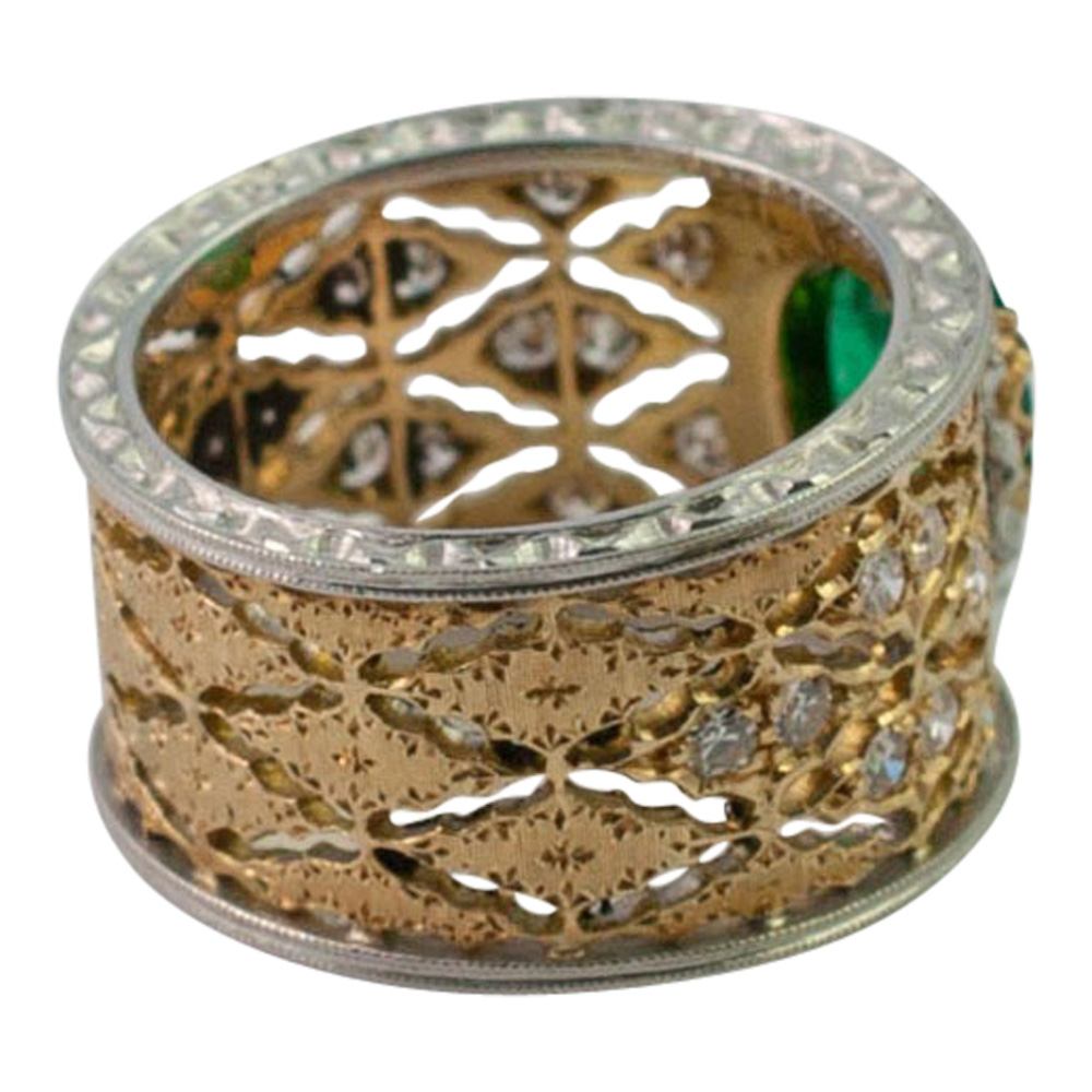 Emerald and Diamond Band Ring by Buccellati from Plaza Jewellery - image 5