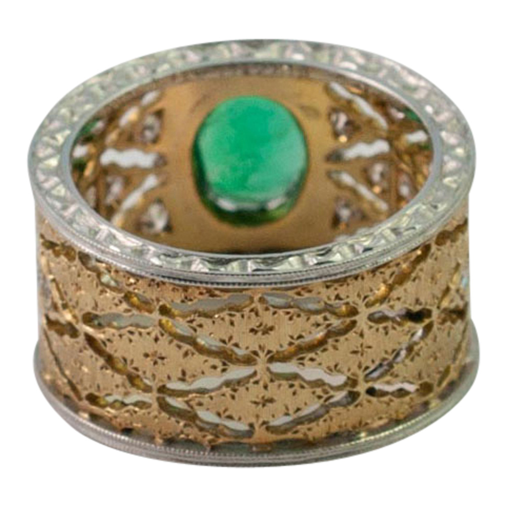 Emerald and Diamond Band Ring by Buccellati from Plaza Jewellery - image 6
