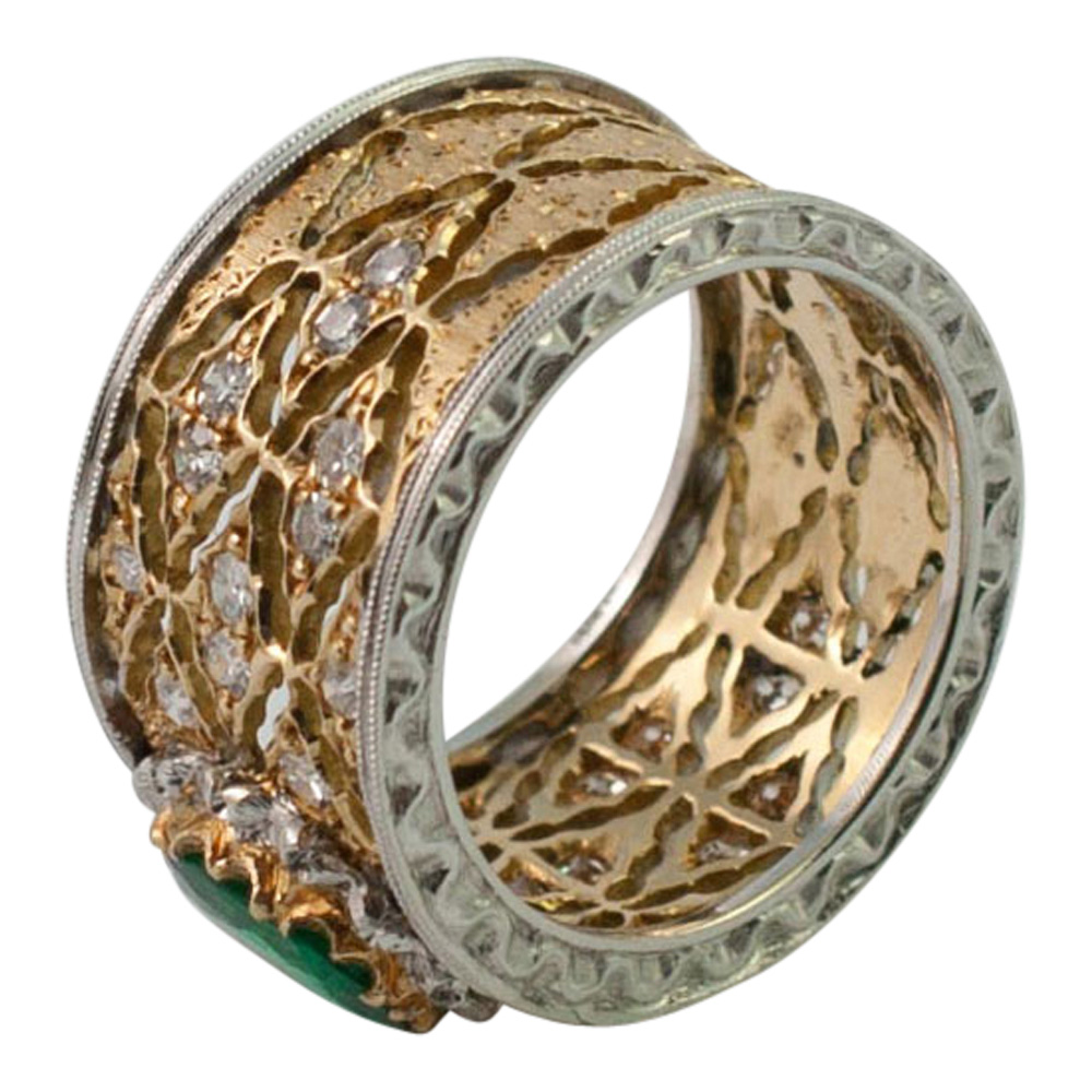 Emerald and Diamond Band Ring by Buccellati from Plaza Jewellery - image 7