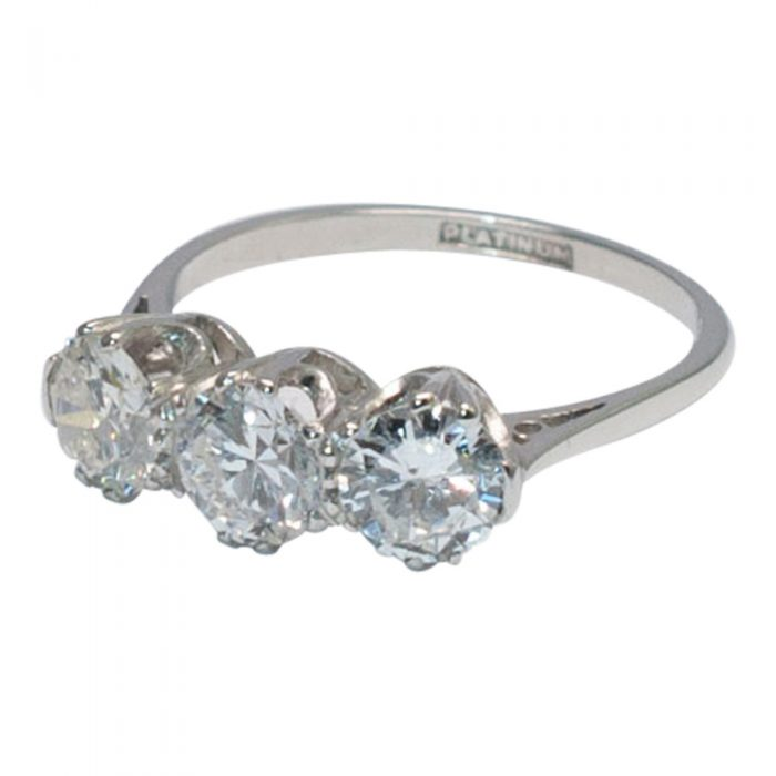 Diamond Trilogy Ring in Platinum from Plaza Jewellery - image 1