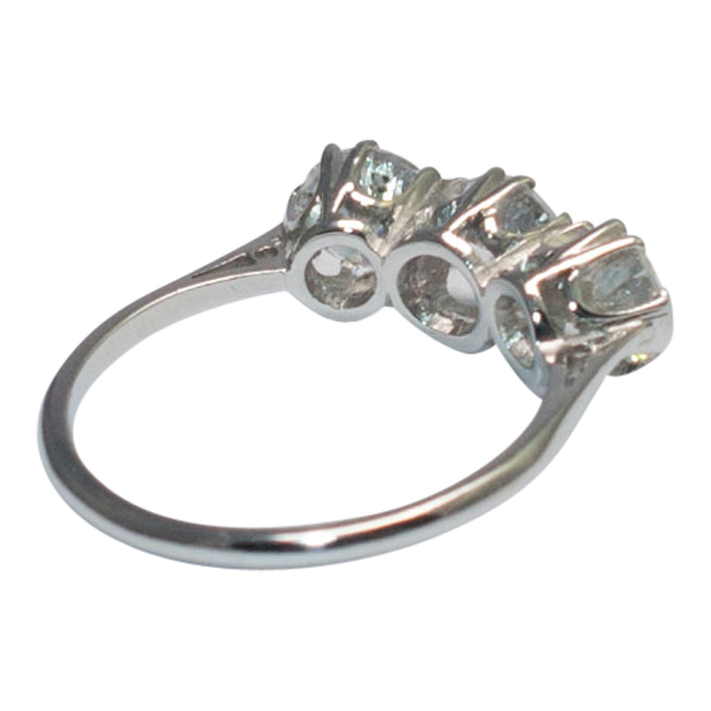 Diamond Trilogy Ring in Platinum from Plaza Jewellery - image 3