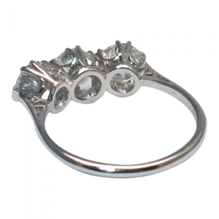 Diamond Trilogy Ring in Platinum from Plaza Jewellery - image 4