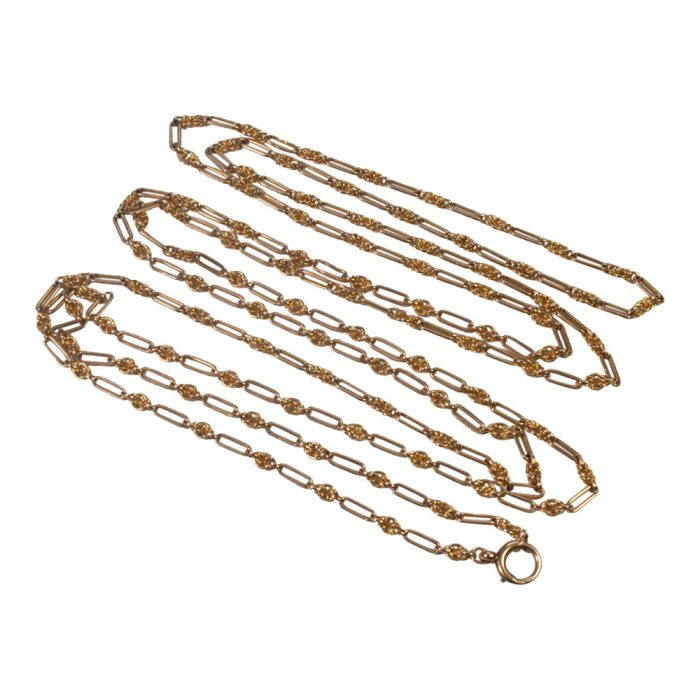 Victorian 15ct Gold Long Chain from Plaza Jewellery - image 1