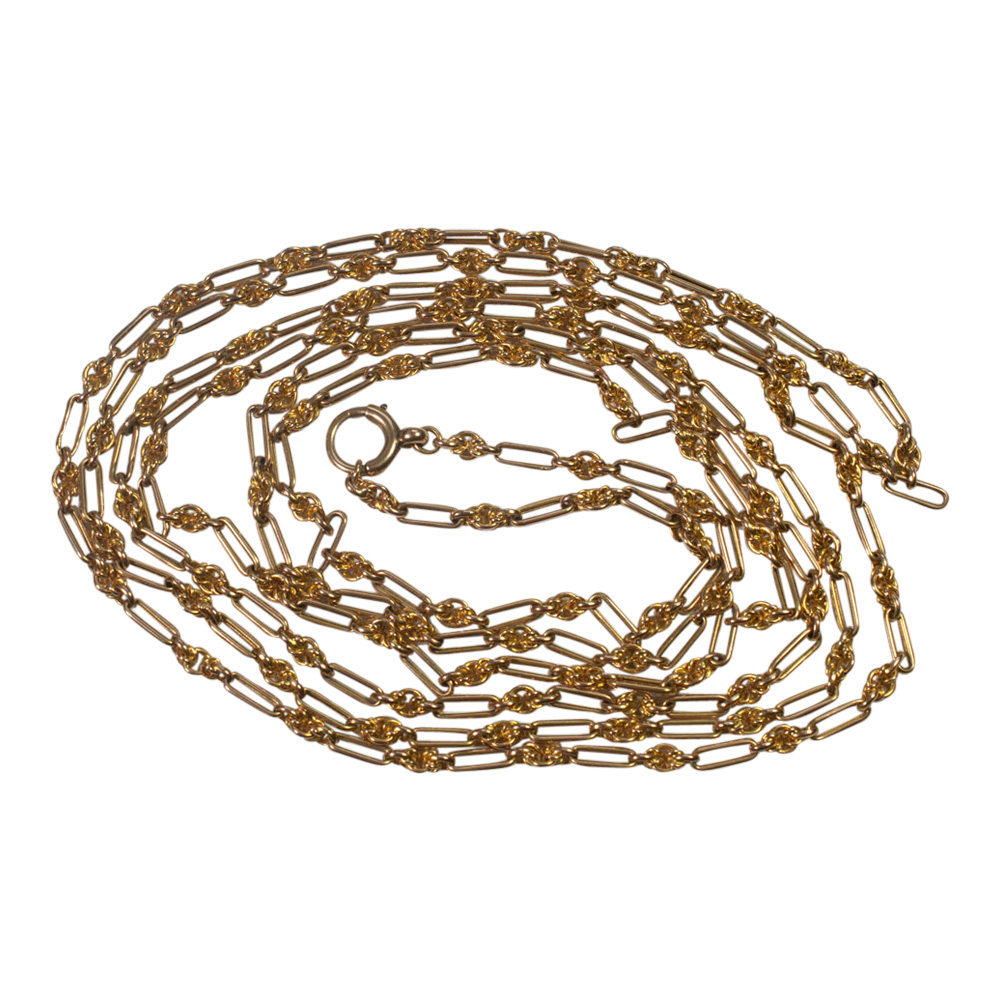 Victorian 15ct Gold Long Chain from Plaza Jewellery - image 6